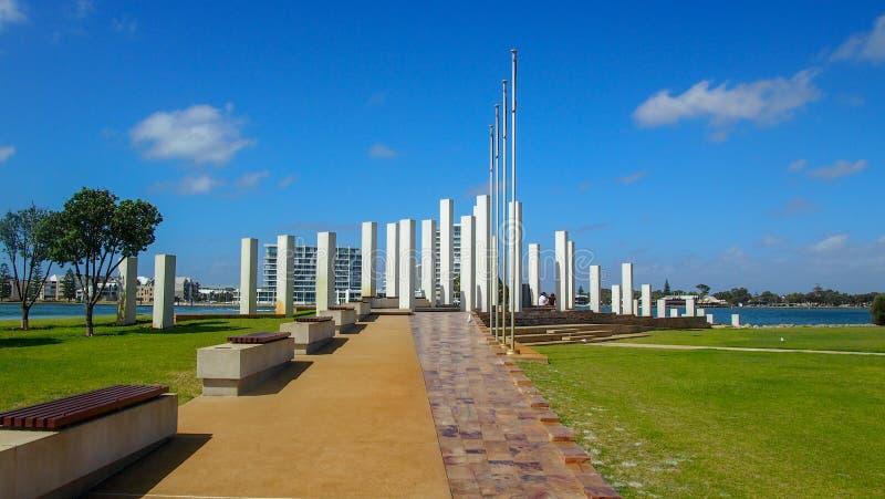 Memorial de guerra em Mandurah, Austrália Ocidental imagem de stock