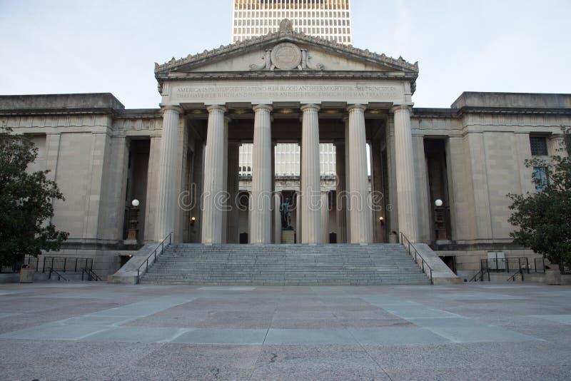 Memorial de guerra Nashville imagens de stock