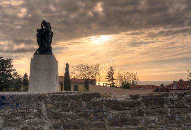 Memorial de guerra, Trieste fotos de stock royalty free
