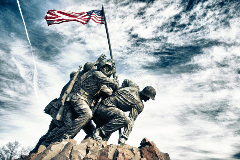 Memorial de Iwo Jima foto de stock royalty free