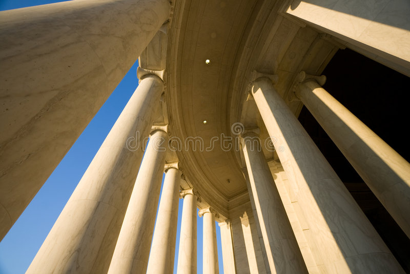 Memorial de Jefferson, C.C. de Washington imagens de stock