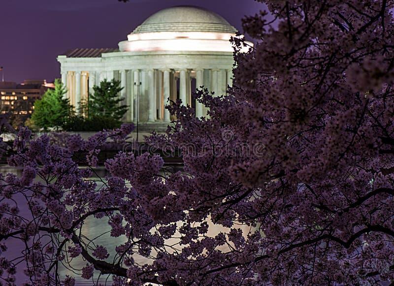 Memorial de Jefferson na noite foto de stock royalty free