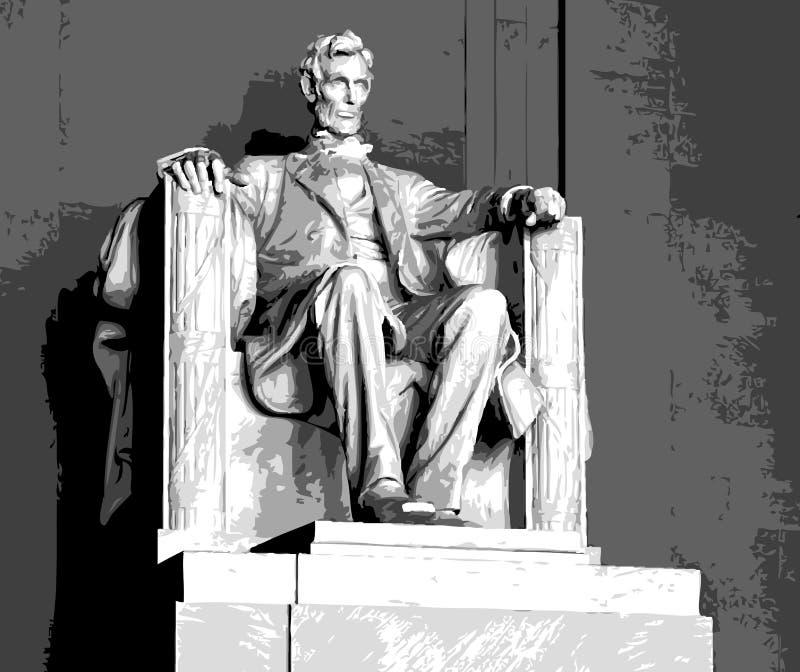 Memorial de Lincoln ilustração royalty free