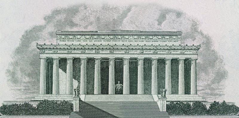 Memorial de Lincoln no Washington DC ilustração do vetor