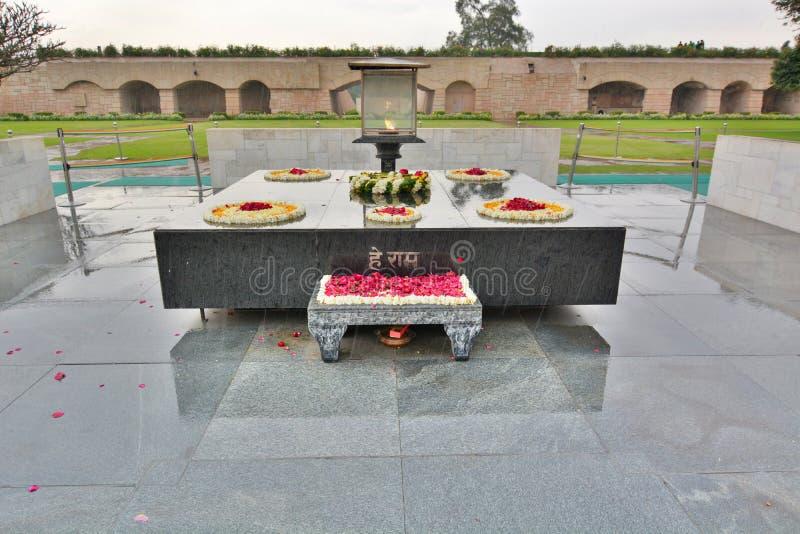 Memorial de Raj Ghat deli India imagens de stock royalty free