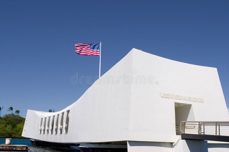 Memorial de Uss o Arizona fotos de stock