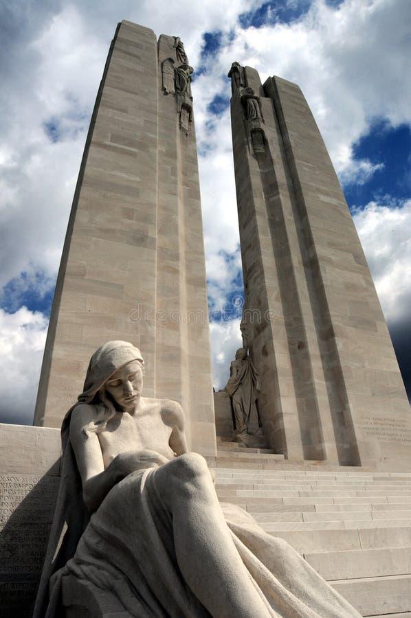 Memorial de Vimy Ridge WW1 fotografia de stock