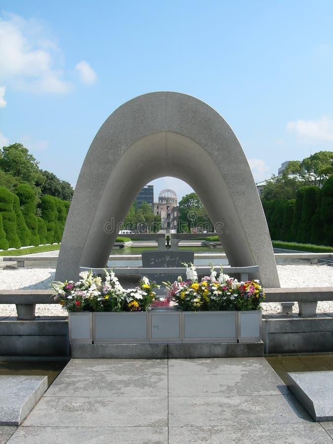 Memorial do arco da paz de Hiroshima fotos de stock royalty free