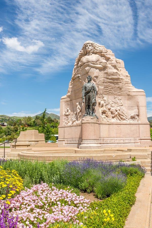 Memorial do batalhão do mórmon em Salt Lake City imagem de stock