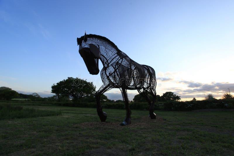 Memorial do cavalo de guerra fotos de stock