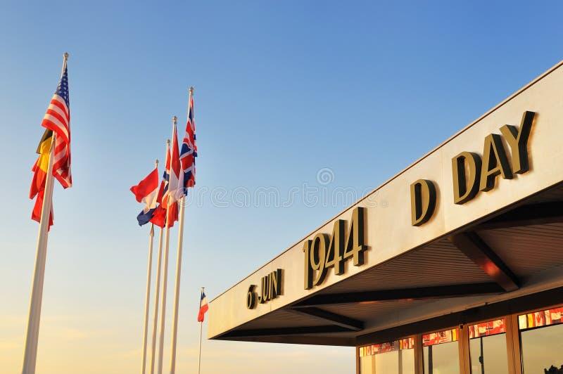 Memorial do dia D, Normandy fotografia de stock