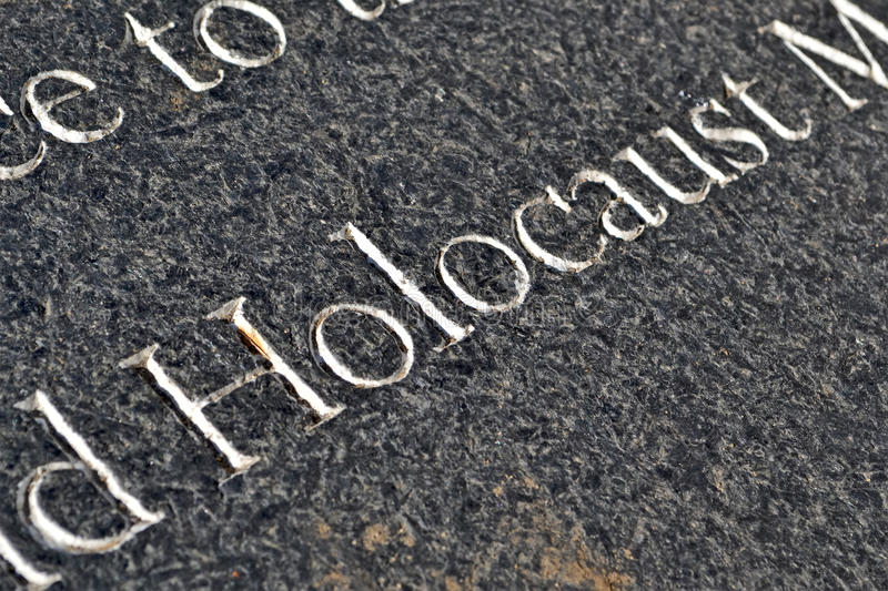 Memorial do holocausto, imagem de stock