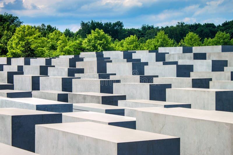 Memorial do holocausto em Berlim imagem de stock