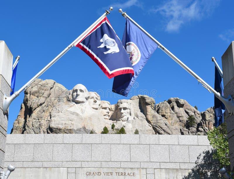 Memorial do nacional do rushmore da montagem imagem de stock royalty free