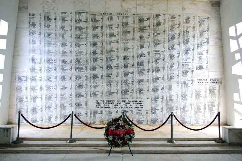 Memorial do Pearl Harbor, O'ahu, Havaí, EUA imagens de stock