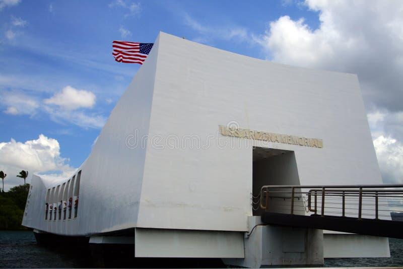 Memorial do Pearl Harbor, O'ahu, Havaí, EUA imagem de stock royalty free