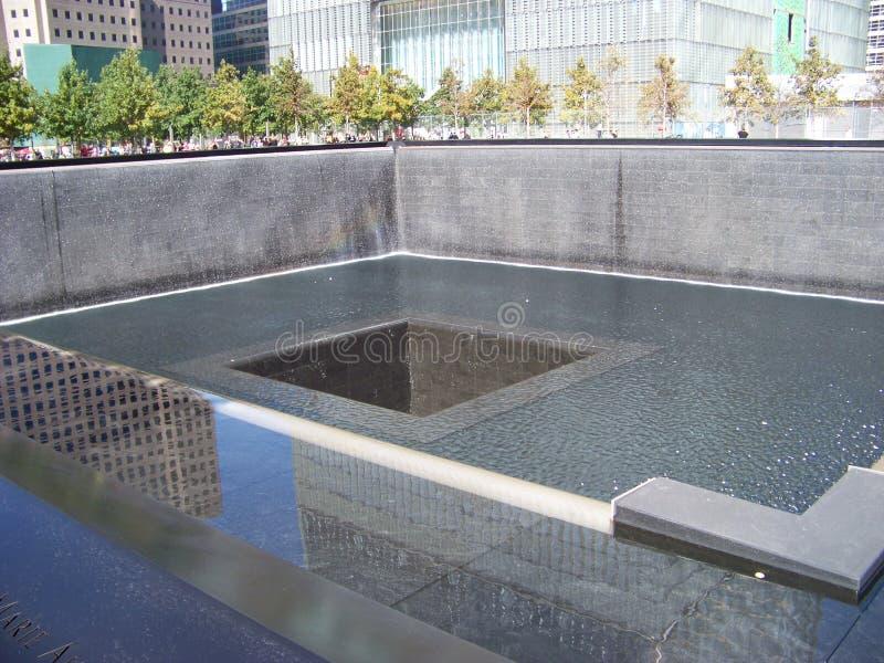 memorial do ponto zero 911 imagem de stock royalty free