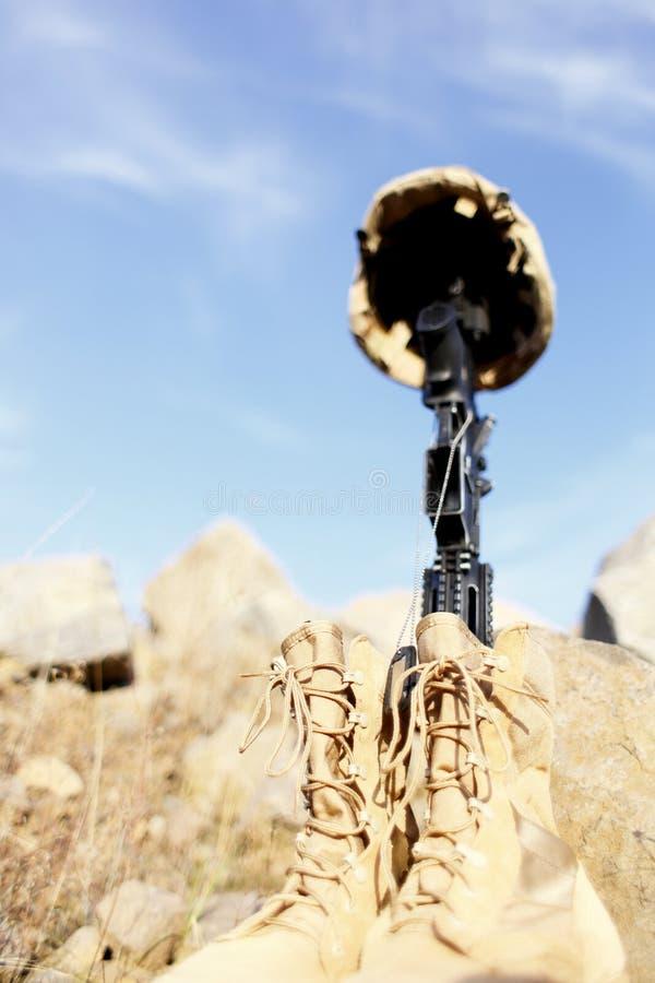 Memorial do soldado fotografia de stock