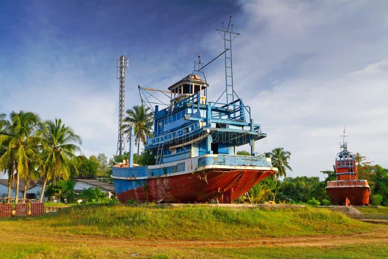 Memorial do tsunami em Baan Nam Khem foto de stock