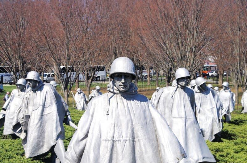 Memorial dos veteranos de Guerra da Coreia, Washington, C.C. imagens de stock royalty free