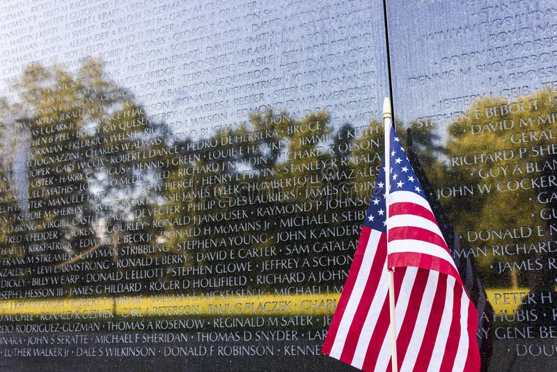 Memorial dos veteranos de Vietname, Washington D C fotografia de stock