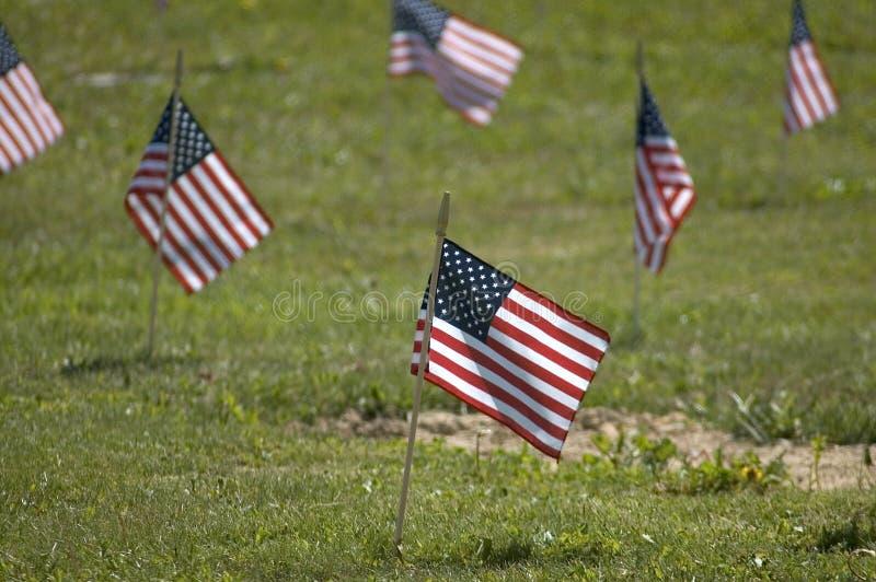 Memorial Flag Close Up Stock Image