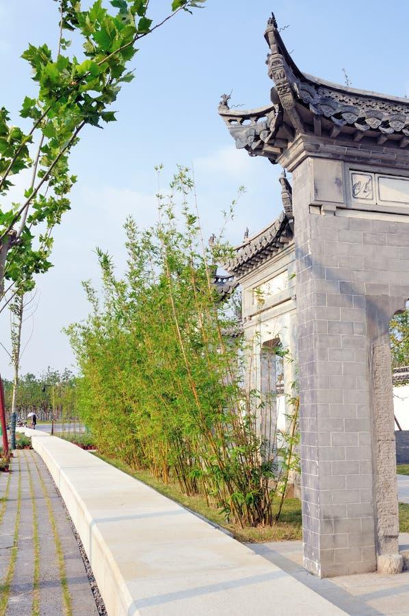 Memorial Gateway and Bamboo royalty free stock photo
