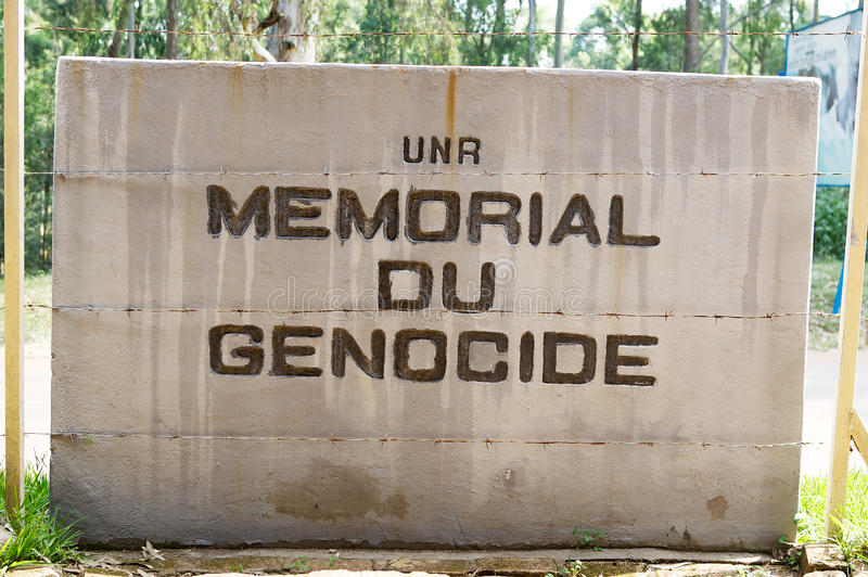 Memorial Genocide at the NUR. The National University of Rwanda (NUR, french UNR) is the largest university in Rwanda. It is located at Butare and was royalty free stock photo