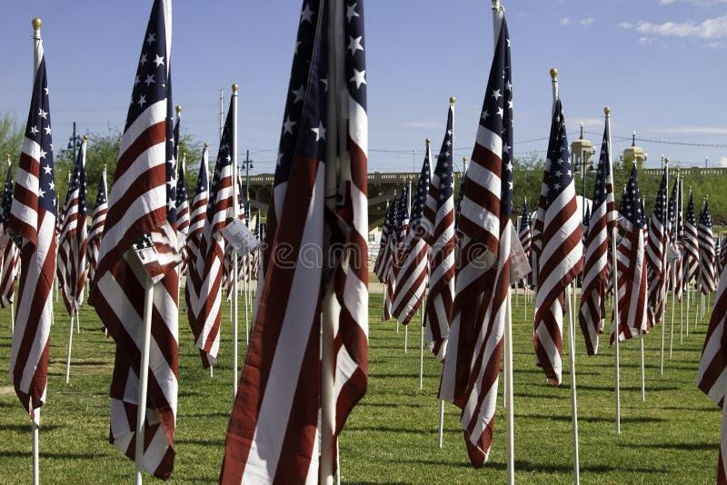 911 Memorial Healing Field American Flags stock photos