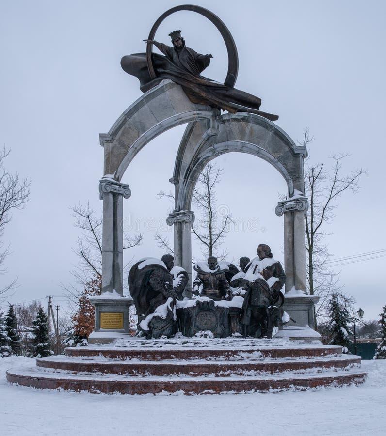 Memorial Hetmans prayer for Ukraine in Baturin stock images