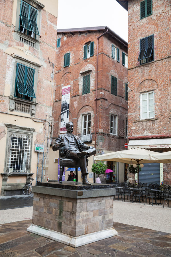 Memorial House of Giacomo Puccini popular attraction in Lucca ,Italy. stock image