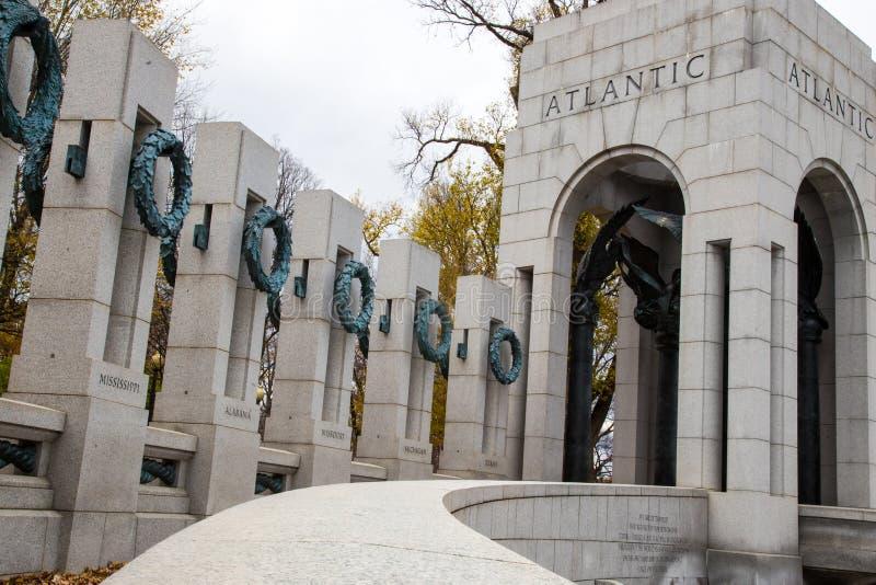 Memorial i andra världskriget, Washington DC arkivbild