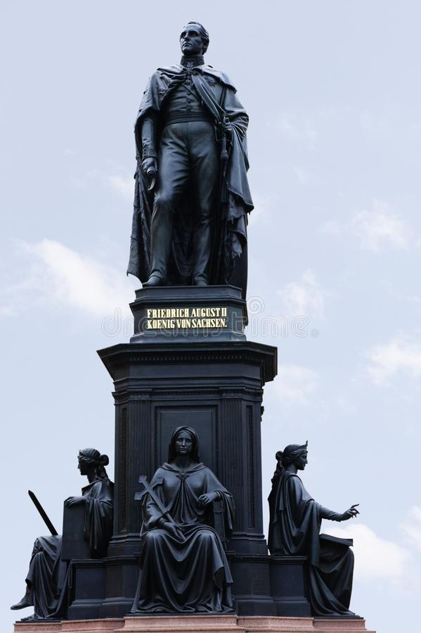 Memorial King Of Saxony Friedrich August II Royalty Free Stock Images