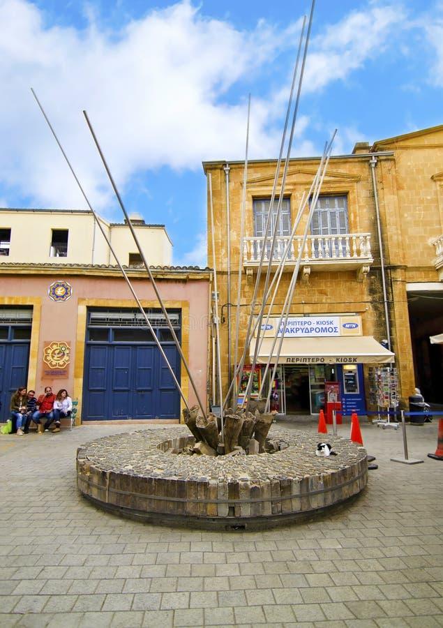 Memorial at Ledras street Nicosia/Lefkosia Cyprus stock photos