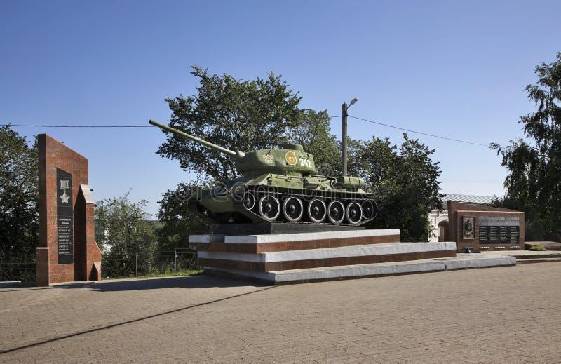 Memorial militar no quadrado da vitória em Kungur Perm Krai Rússia fotografia de stock