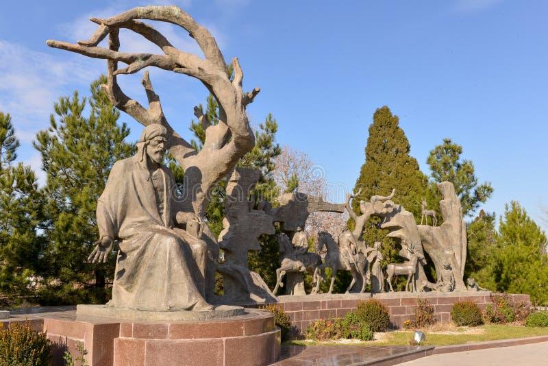 Memorial. Monuments of Nizami Genjevi at the Park royalty free stock photography