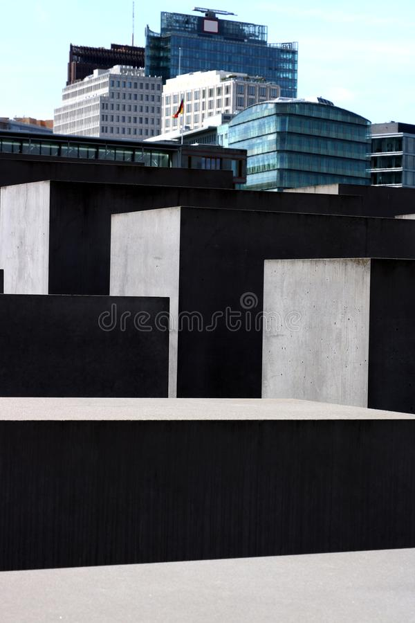 Memorial for the murdered Jews of Europe. Berlin royalty free illustration