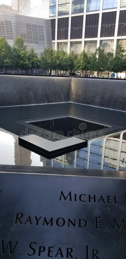 9/11 Memorial Museum 9. August 2019 lizenzfreie stockfotografie