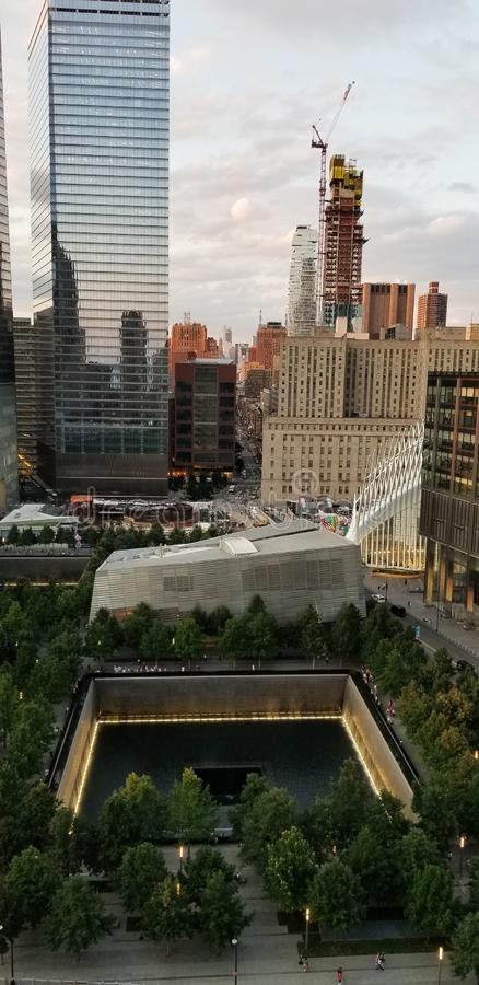9/11 Memorial Museum August 9, 2019 View From Above stock photos