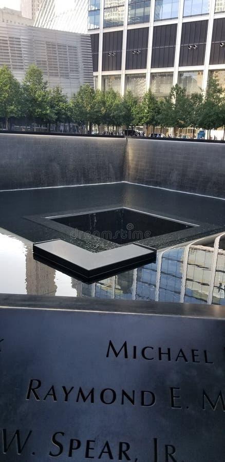 9/11 Memorial Museum 9 augusti 2019 royaltyfri fotografi
