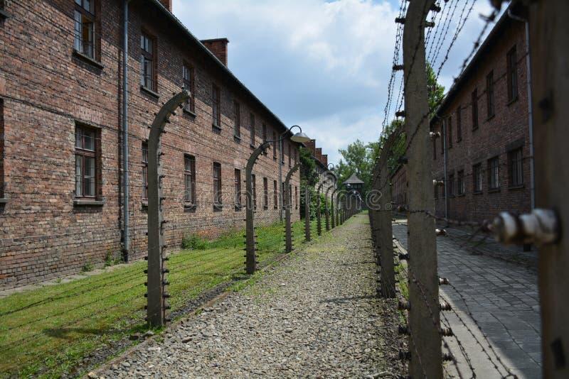 Memorial and museum of holocaust in AUSCHWITZ BIRKENAU royalty free stock photo