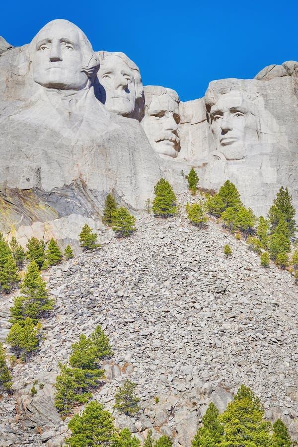 Memorial nacional em um dia ensolarado, EUA do Monte Rushmore fotos de stock