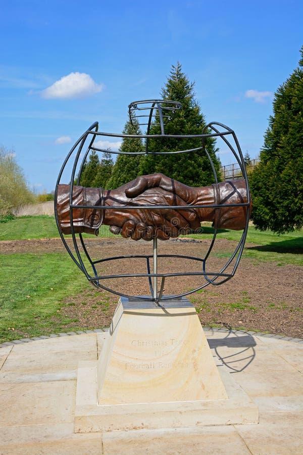 Memorial no arboreto memorável nacional, Alrewas da trégua do Natal imagens de stock royalty free