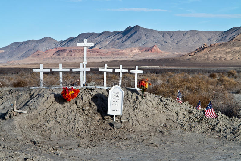 Memorial in the Northern Nevada desert