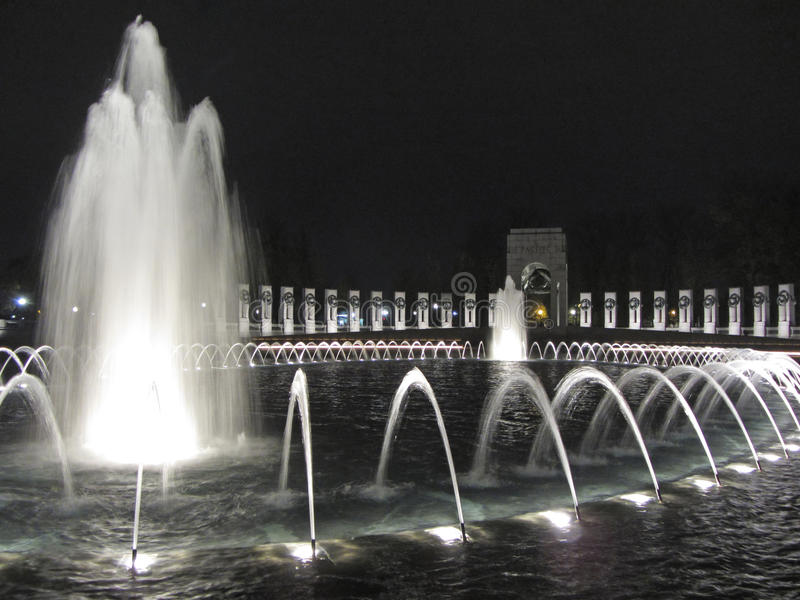 Memorial pacífico na noite fotografia de stock royalty free