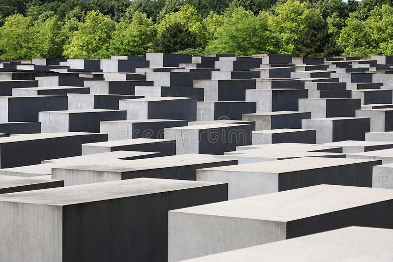 Memorial para os judeus assassinados de Europa berlim imagem de stock royalty free