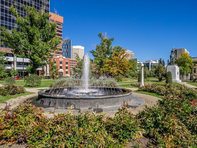 Memorial Park in Calgary. Alberta Canada during the beautiful fall season royalty free stock photo