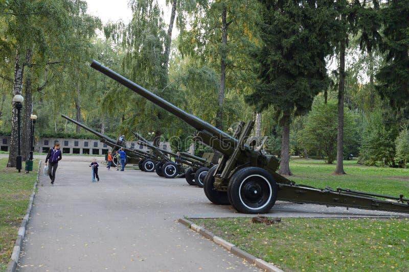 Memorial Park in het hout URVAN in de stad van Novomoskovsk royalty-vrije stock foto