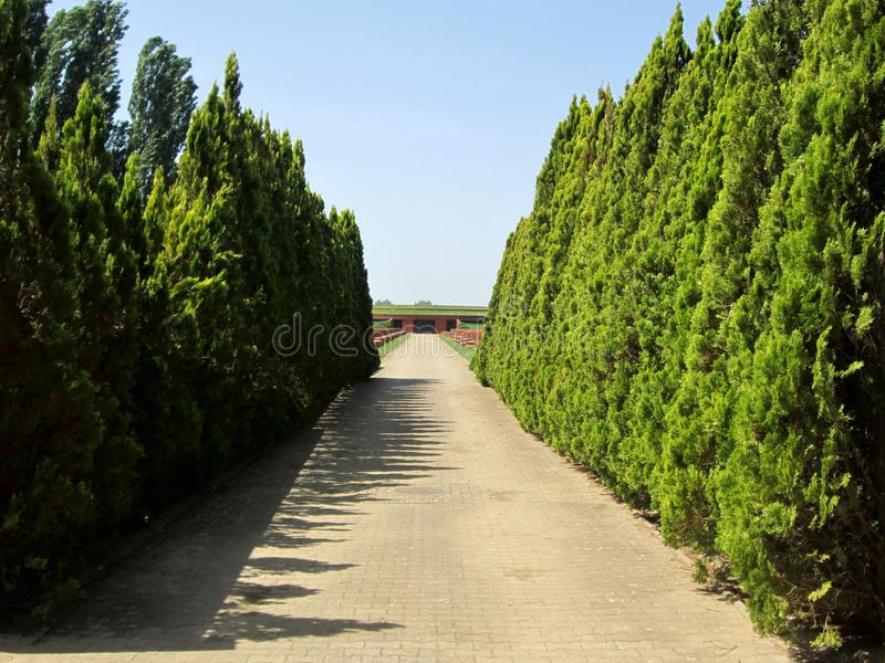 Memorial Park Sremski framdel, Vojvodina, Serbien fotografering för bildbyråer