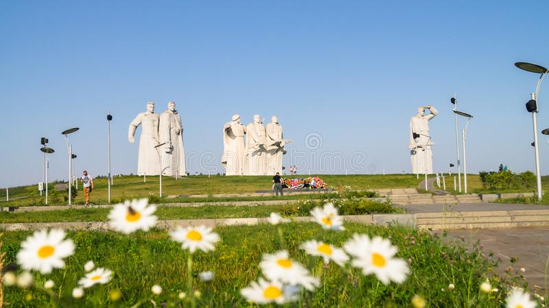Memorial of the glorious Heroes of Panfilov division, defeated fascists in Moscow battle, Dubosekovo, Moscow region, Russia. royalty free stock photos